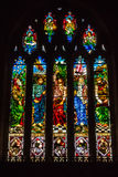 All Saints Church in Langport Stained Glass H royalty free stock images