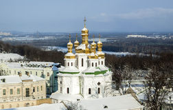 All Saints Church in Lavra. All Saints Church in Kyiv-Pechersk Lavra. View from the bell tower Royalty Free Stock Photography