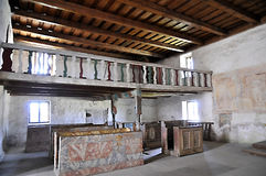 All-Saints church, Ludrová -balcony interior Royalty Free Stock Image
