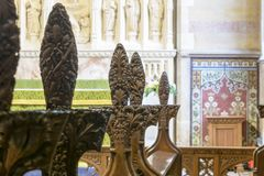 All Saints Church Poppy Heads Pews D Shallow Depth of Field Royalty Free Stock Photography
