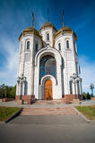 All Saints Church in Russia. Volgograd about memorial Mamaev Kurgan Stock Photography