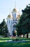 All Saints Church in Russia, Volgograd on Mamaev Kurgan. Volgograd, Russia - June 27, 2016: All Saints Church in Russia, Volgograd on Mamaev Kurgan Stock Photos