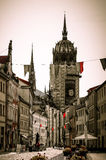 All Saints` church with the tomb of Marting Luther in Lutherstadt Wittenberg, Germany Stock Photography