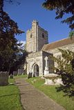 All Saints Church at Ulcombe Kent Royalty Free Stock Photo