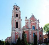 All Saints church in Vilnius city. Lithuania. Stock Photos