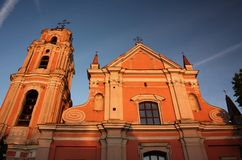 All Saints Church in Vilnius Royalty Free Stock Images