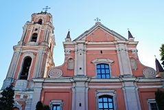 All Saints Church in Vilnius town, capital of Lithuania. Royalty Free Stock Photos