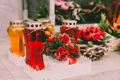 All Saints Day candle Stock Images