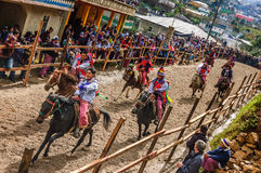 All Saints' Day horse race, Todos Santos Cuchumatan, Guatemala Royalty Free Stock Photo
