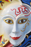 All Saints' Day mask. Colorful all saints' day parade mask of a woman ghost Stock Photo