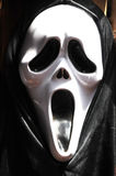 All saints' Day mask. A black and white plastic mask of all sants' Day Parade Royalty Free Stock Photos