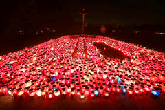 All Saints Day at night Stock Photography