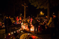 All Saints' day, Pezinok, Slovakia Royalty Free Stock Images
