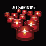 All Saints Day red votive candles design Royalty Free Stock Photos