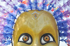 All Saints' Day woman mask. Colorful all saints' day parade mask with feathers of a woman ghost Stock Photography