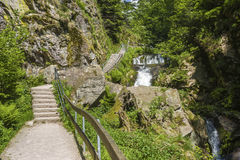 The All Saints waterfalls in Oppenau Royalty Free Stock Photography
