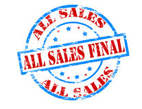 All sales final Royalty Free Stock Photography