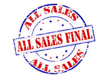 All sales final. Rubber stamp with text all sales final inside,  illustration Royalty Free Stock Image
