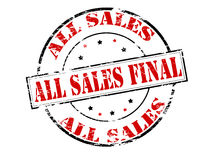 All sales final Stock Photo