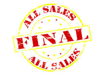 All sales final. Rubber stamp with text all sales final inside,  illustration Royalty Free Stock Photography