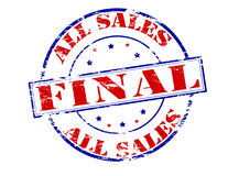 All sales final. Rubber stamp with text all sales final inside, illustration vector illustration
