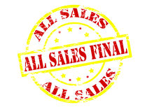 All sales final. Rubber stamp with text all sales final inside,  illustration Stock Photography