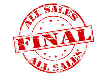 All sales final. Rubber stamp with text all sales final inside,  illustration Stock Images