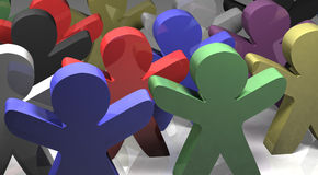 We are all the same 3D illustration Stock Images