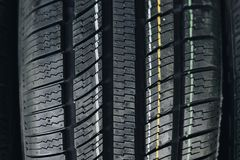 All season car tires Stock Photography