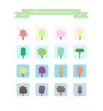 All season tree icon set, . stock illustration