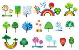 all seasons wyznaczonym eleganckiego drzewa Zdjęcie Royalty Free
