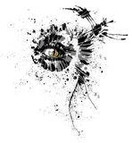 All seeing cat eye in an abstract form Stock Photos