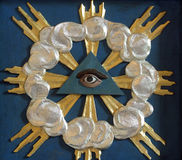 All-seeing eye. Christian religious symbol - all-seeing eye royalty free stock image