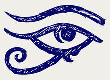 All seeing eye. Doodle style. Vector Stock Photo