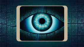 The all-seeing eye of Big brother in your smartphone Stock Image