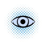 All-seeing eye comics icon. On a white background royalty free illustration