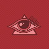 All seeing eye of horus Royalty Free Stock Image