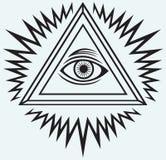All seeing eye royalty free illustration