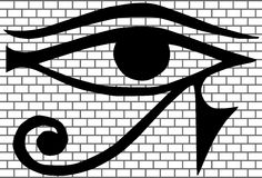 All-seeing eye New World Order vector Royalty Free Stock Images