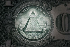 All-seeing eye on the one dollar. New world order. elite characters. 1 dollar. All-seeing eye on the one dollar. New world order. elite characters. 1 dollar Royalty Free Stock Photo