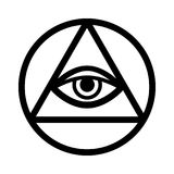 All-Seeing Eye (The Eye of Providence) Stock Images