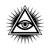 All-Seeing Eye (The Eye of Providence). All-Seeing Eye of God (The Eye of Providence | Eye of Omniscience | Luminous Delta | Oculus Dei&#x29 Royalty Free Stock Images