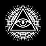 All-Seeing Eye (The Eye of Providence). All-Seeing Eye of God (The Eye of Providence | Eye of Omniscience | Luminous Delta | Oculus Dei&#x29 Stock Photo