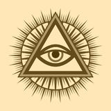 All-Seeing Eye (The Eye of Providence). All-Seeing Eye of God (The Eye of Providence | Eye of Omniscience | Luminous Delta | Oculus Dei&#x29 Royalty Free Stock Photo