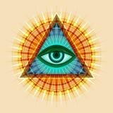 All-Seeing Eye (TheEyeofProvidence). All-Seeing Eye of God (The Eye of Providence | Eye of Omniscience | Luminous Delta | Oculus Dei&#x29 Stock Photos