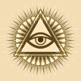 All-Seeing Eye (The Eye of Providence). All-Seeing Eye of God (The Eye of Providence | Eye of Omniscience | Luminous Delta | Oculus Dei&#x29 Stock Photos