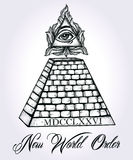 All seeing eye pyramid symbol. Stock Photography