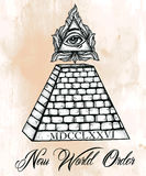 All seeing eye pyramid symbol. Royalty Free Stock Images