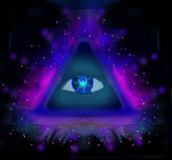 All seeing eye. Raster illustration Royalty Free Stock Image