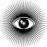 All seeing eye Royalty Free Stock Images
